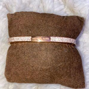 MK rose gold bracelet